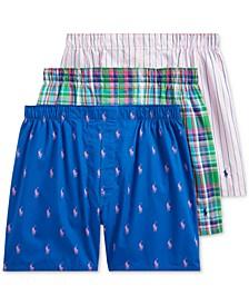폴로 랄프로렌 속옷 하의  Polo Ralph Lauren Classic Woven Boxers,Blue Yacht Pp/nantucket Plaid/chilmark Stripe