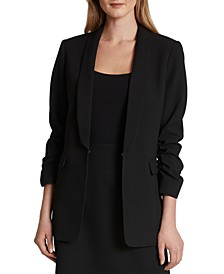Scrunch-Sleeve Blazer