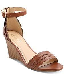 Magenta Wedge Sandals