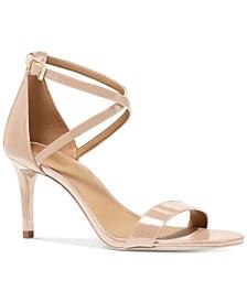 Ava Mid-Heel Dress Sandals