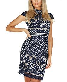 Quiz Lace Sheath Dress