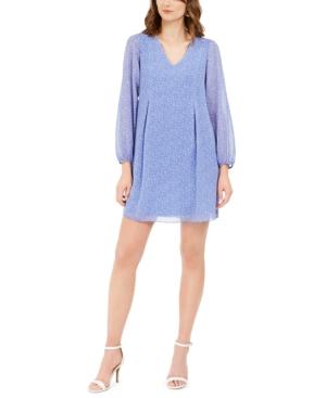 Inc Bow-Back Dot-Print Shift Dress