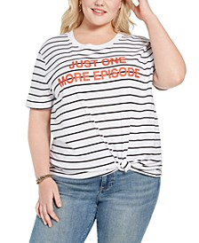 Trendy Plus Size Just One More Episode Graphic T-Shirt