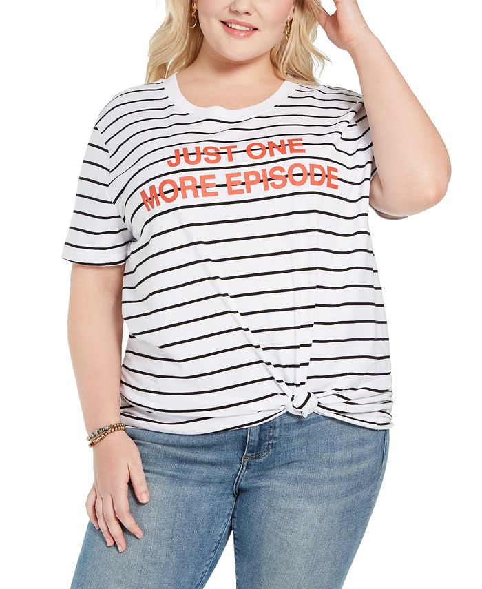 Mighty Fine - Trendy Plus Size Just One More Episode Graphic T-Shirt