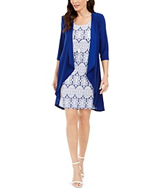 Petite Jacket & Printed Sheath Dress