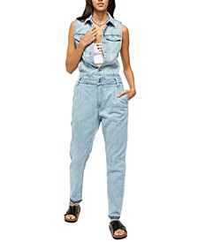 Fast Cars Denim Jumpsuit