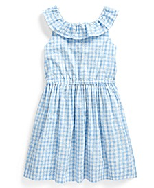 Toddler Girls Gingham Cotton Poplin Dress