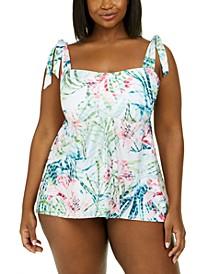Trendy Plus Size Tankini Top & Bikini Bottoms