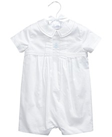 Baby Boys Cotton Satin Shortall