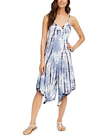 Tie-Dye Sleeveless Jumpsuit Swim Cover-Up