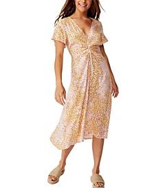 Woven Issa Gathered Front Midi Dress