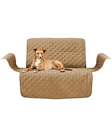 Quilted Micro Suede Loveseat Slipcover Furniture Protector