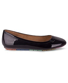 MARLO Women's Rainbow Sole Ballet Flat