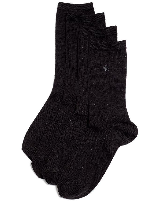 Lauren Ralph Lauren - Pindot Super Soft Trouser 2 Pack Socks