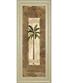 Scroll Palm  by Carol Robinson Framed Print Wall Art Collection
