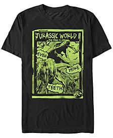 Jurassic World Fallen Kingdom Men's T-Rex Neon Green Poster Short Sleeve T-Shirt