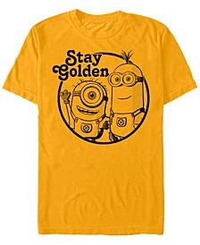 Minions Men's Stay Golden Short Sleeve T-Shirt