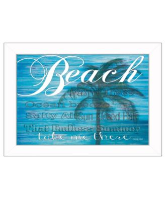 Take Me There By Cindy Jacobs, Printed Wall Art, Ready to hang, White Frame, 14