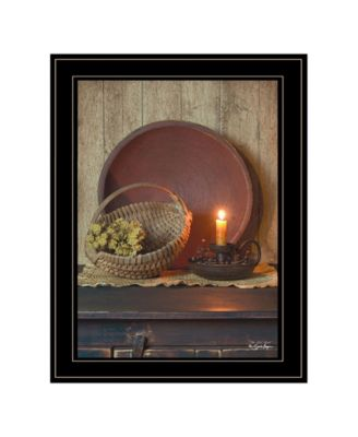 The Red Basket by Susie Boyer, Ready to hang Framed Print, Black Frame, 19