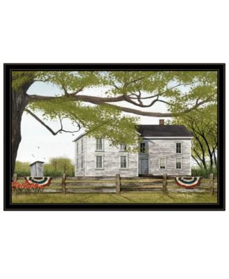 Sweet Summertime House by Billy Jacobs, Ready to hang Framed Print, Black Frame, 38