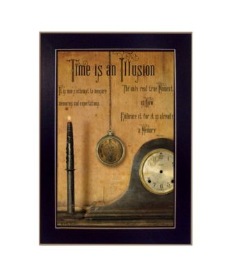 Time is the Illusion By Billy Jacobs, Printed Wall Art, Ready to hang, Black Frame, 14