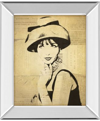 Fashion News I by Wild Apple Graphics Mirror Framed Print Wall Art, 22