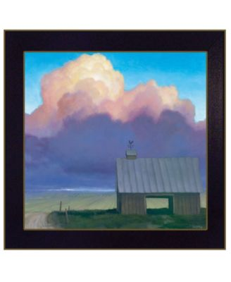 Through Rows by Tim Gagnon, Ready to hang Framed Print, Black Frame, 14