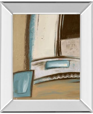 Time Flies on Blue I by Patricia Pinto Mirror Framed Print Wall Art, 22