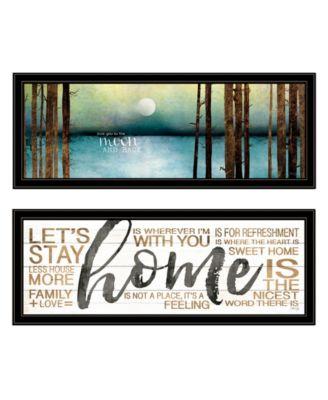 Love / Home 2-Piece Vignette by Marla Rae, Black Frame, 39