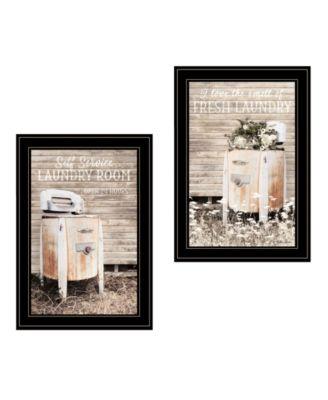 Laundry Room 2-Piece Vignette by Lori Deiter, White Frame, 15