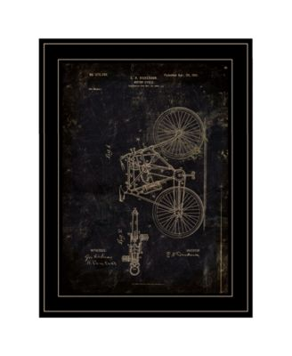 Motor Bike Patent I by Cloverfield Co, Ready to hang Framed Print, White Frame, 15