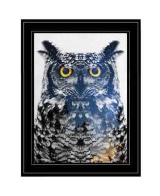 Night Owl by andreas Lie, Ready to hang Framed Print, Black Frame, 15
