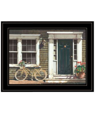 Parked Out Front by John Rossini, Ready to hang Framed Print, Black Frame, 19