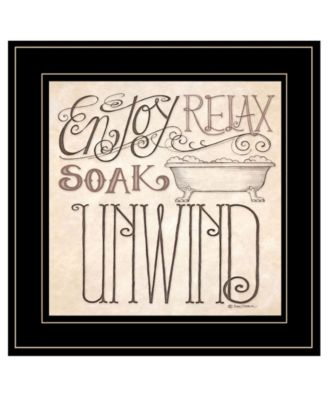 Soak Relax by Deb Strain, Ready to hang Framed Print, White Frame, 15