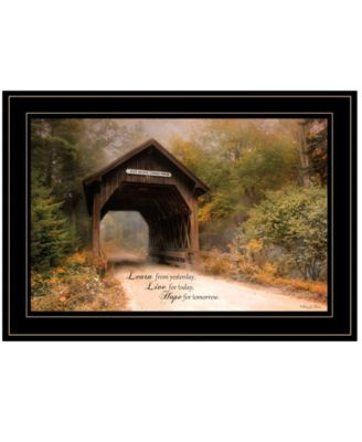 Live for Today by Robin-Lee Vieira, Ready to hang Framed Print, White Frame, 21