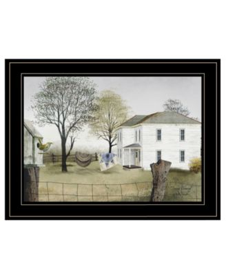 Spring Cleaning by Billy Jacobs, Ready to hang Framed Print, White Frame, 21