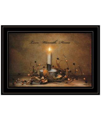 Love, Warmth, Home by Robin-Lee Vieira, Ready to hang Framed Print, White Frame, 21