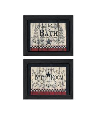 Hot Bath 2-Piece Vignette by Linda Spivey, White Frame, 14