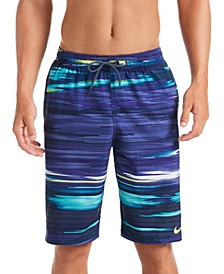 "Men's Sky Stripe Vital 11"" Volley Swim Trunks"