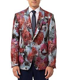 Orange Men's Slim-Fit Pink & Blue Metallic Sport Coat