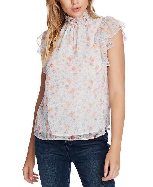 1.STATE Woodland Floral-Print Top