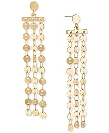 Gold-Tone Disc Chain Linear Earrings