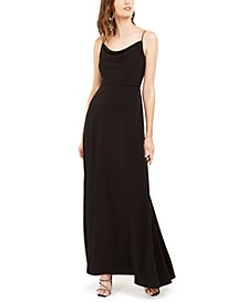 Cowlneck A-Line Gown