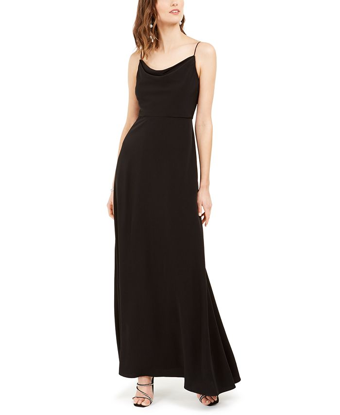 Adrianna Papell - Cowlneck A-Line Gown