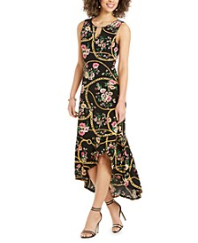 Flounce-Hem Maxi Dress, Created for Macy's