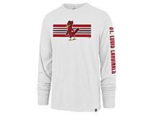 St. Louis Cardinals Men's Cross Stripe Long Sleeve T-Shirt