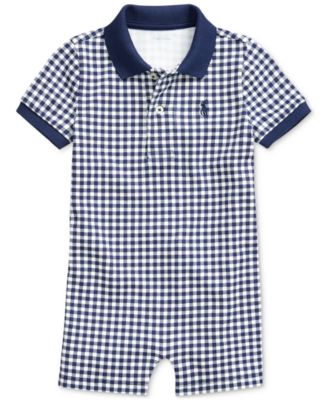 폴로 랄프로렌 Polo Ralph Lauren Baby Boys Gingham Cotton Polo Shortall