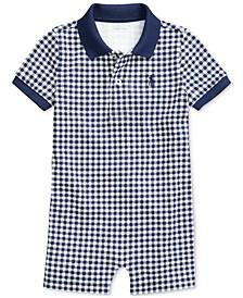Baby Boys Gingham Cotton Polo Shortall