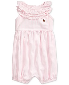 Baby Girls Ruffled Cotton Bubble Shortall