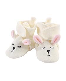 Baby Toddler Girls Modern Bunny Cozy Fleece Booties